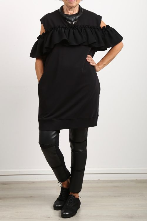 mm6 maison margiela - Kleid mit Volant Sweater black