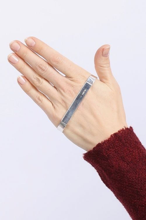 rundholz - Hand bracelet silber