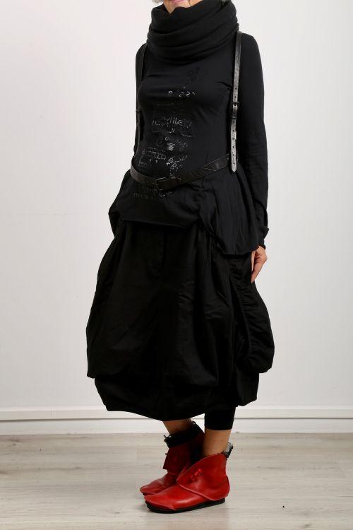 rundholz - Leather belt suspenders black