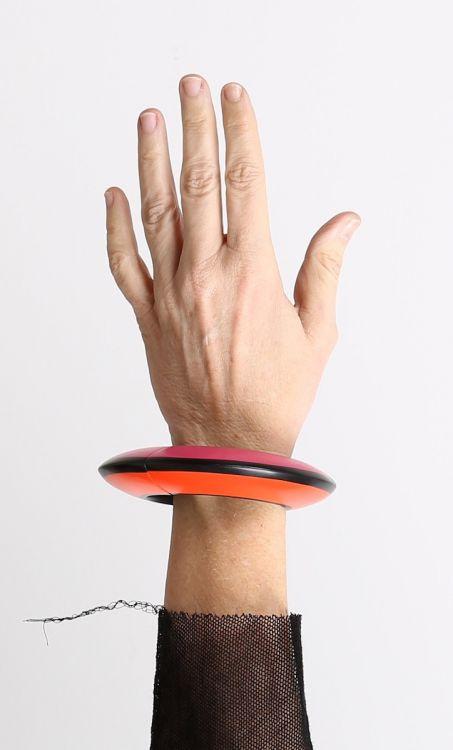 monies - Bracelet Poly reversible pink orange