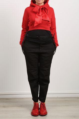 Sweater mit Kapuze und einer großen Schleife Baumwolle red - Winter 2021