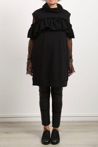 mm6 maison margiela - Dress with flounce sweater black - Winter 2021