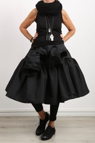 rundholz - Balloon skirt with big bow black - Winter 2021