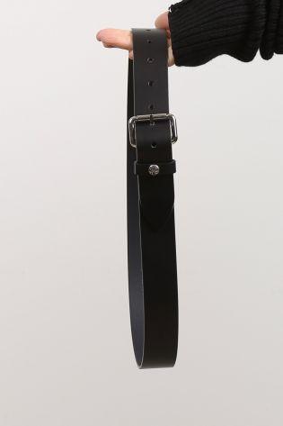 high - Ledergürtel mit Schnalle black