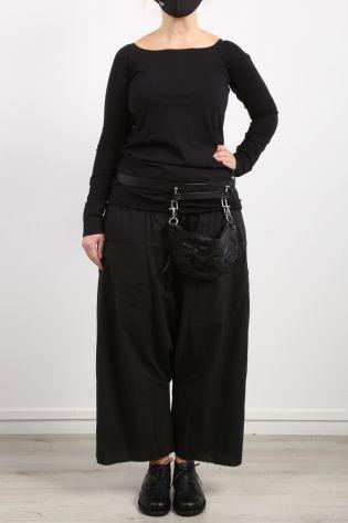 black by k&m - Longshirt Exotic Langarm Bio Baumwolle Stretch black - Sommer 2021