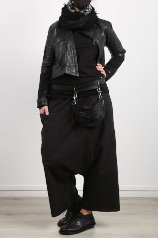 black by k&m - Trousers Break My Heart with lower crotch Cotton black - Summer 2021