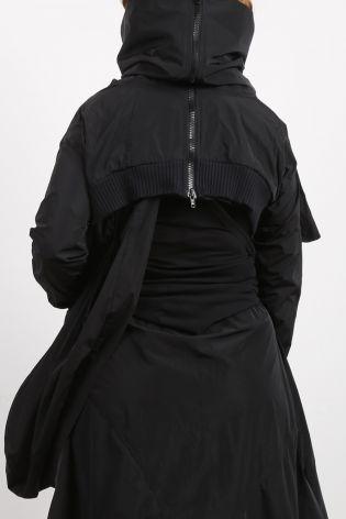 creare - Jacke JACQUELINE mit großem Kragen und Ripp Oversize black - Sommer 2021