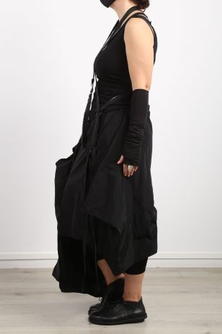 creare - Skirt SHOULY with apron convertible Memory Silk black - Summer 2021