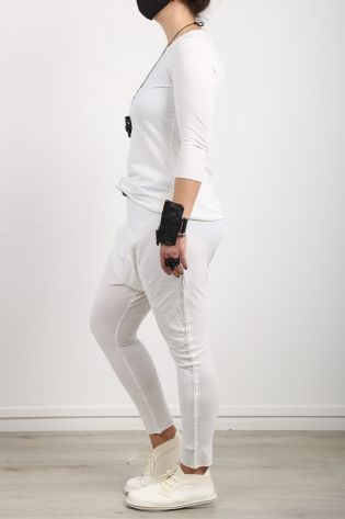 rundholz black label - Shirtblouse 3/4 sleeves Fabric Mix Cotton Jersey Stretch offwhite - Summer 2021