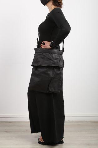 serien umerica - Große Ledertasche mit Umschlag black