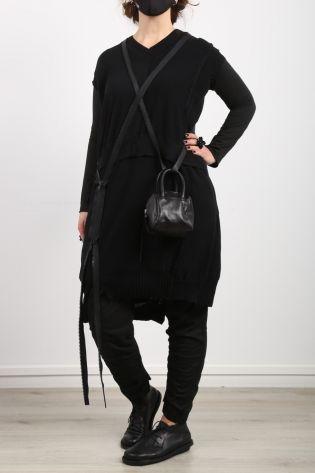 serien umerica - Strickkleid mit Strick Mix Oversize Cotton black - Sommer 2021