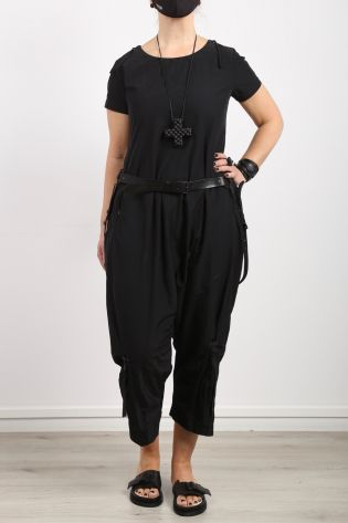 rundholz black label - Overall mit Zippern in Memory Polyester black - Sommer 2021