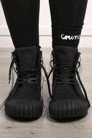 rundholz dip - Schuhe Boots Textil Knöchelhoch mit Schnürsenkeln black - Sommer 2021