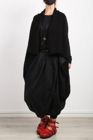 privatsachen - Skirt BRÜNHILFE tulip shape in wrap look wool silk caviar - Winter 2022