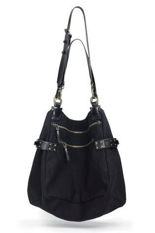 teo + ng - Canvas bag SMOTIS shoulder/crossover bag big black - Winter 2022