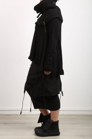 rundholz dip - Skirt with overcast stretch black - Winter 2022