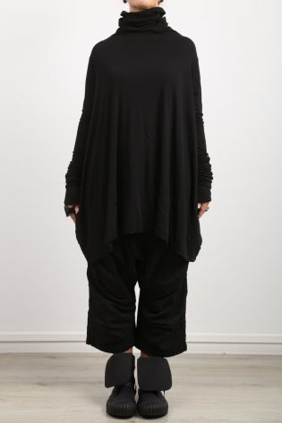rundholz dip - Pants with overcast and low crotch Cotton Stretch black - Winter 2022