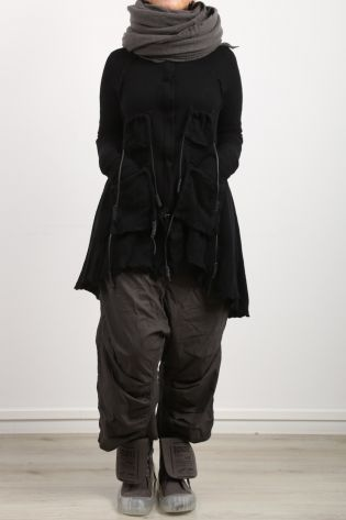 rundholz dip - Cardigan with many pockets wool with cashmere black - Winter 2022