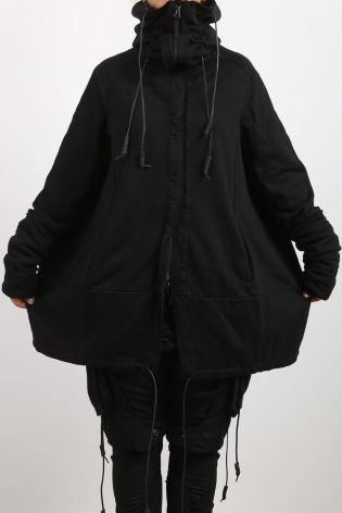 rundholz dip - Jacket in balloon shape sweater high collar with padding black - Winter 2022
