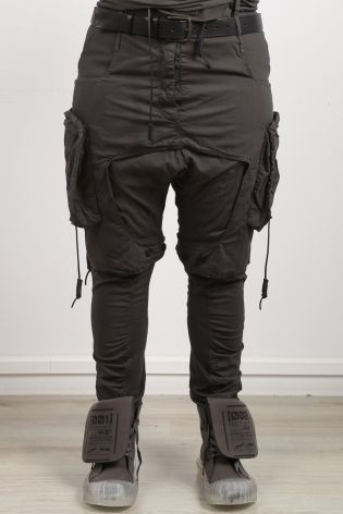 rundholz dip - Long pants with overcast and lower crotch Cotton Stretch black - Winter 2022