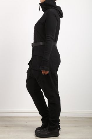 rundholz black label - Overall with hood and stretch inserts black - Winter 2022