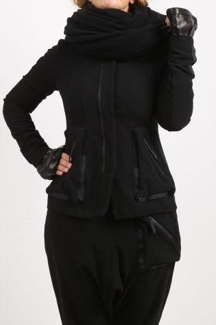 Leather arm cuffs black