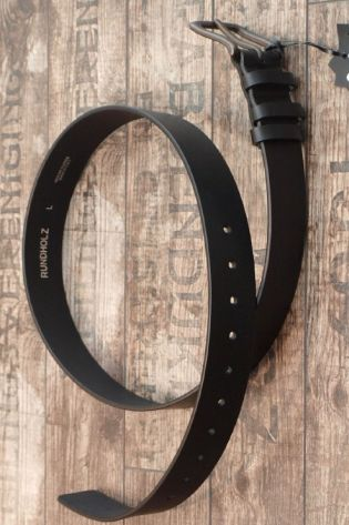 rundholz - Ledergürtel mittelbreit black