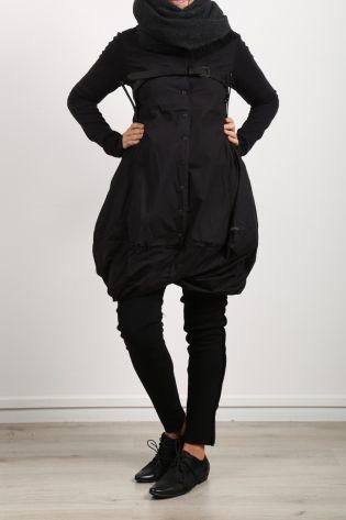 rundholz - Ledergürtel Hosenträger black