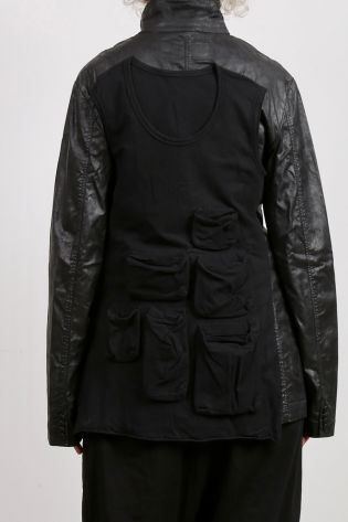 rundholz dip - longjacket with top back and pockets black