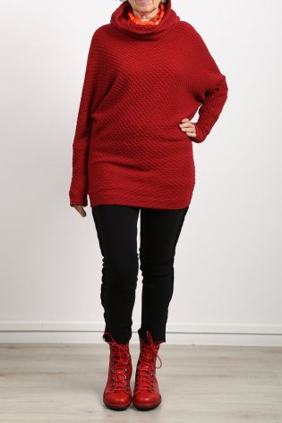 rostfrei by a.röstel - Sweater with structure and kimono sleeves red