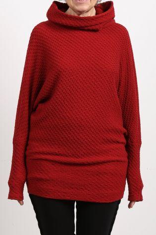 rostfrei by a.röstel - Pullover mit Struktur und Kimonoärmeln red