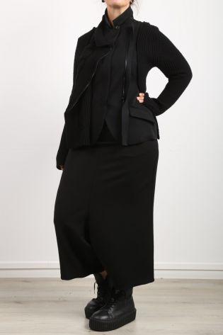 rundholz - Jacket with Knit Gabardine Wool black