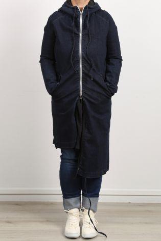 serien umerica - Jeansmantel Parka Asymmetrie mit Kapuze jeans blue