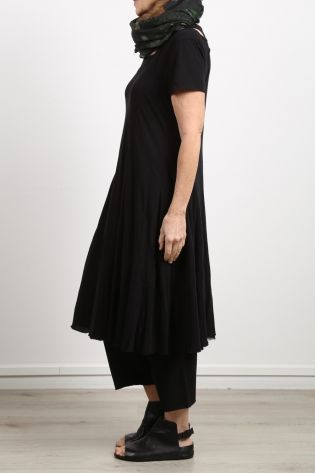 rundholz - Dress with strap dress in flared form double layered black - Summer 2020